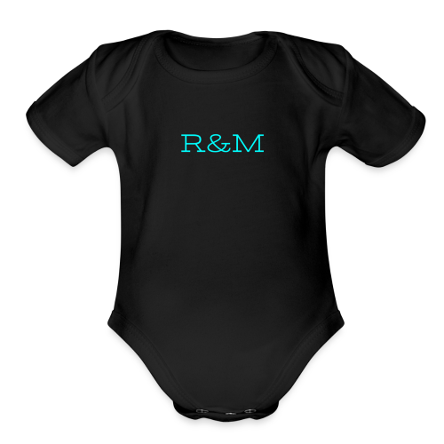 R&M Structured Letters - Organic Short Sleeve Baby Bodysuit