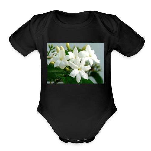 Jasmine Flower - Organic Short Sleeve Baby Bodysuit