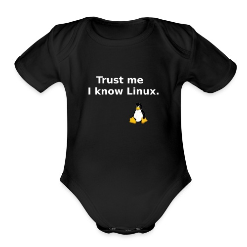 I know Linux - Organic Short Sleeve Baby Bodysuit