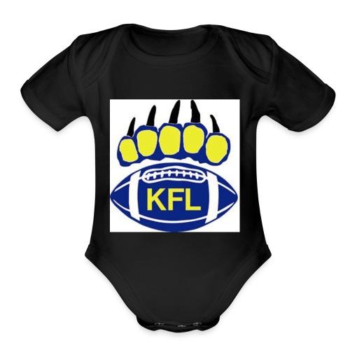 KFL Football - Organic Short Sleeve Baby Bodysuit