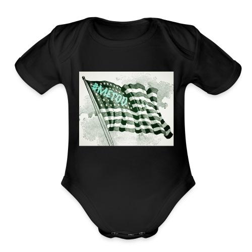 American Flag #METOO - Organic Short Sleeve Baby Bodysuit