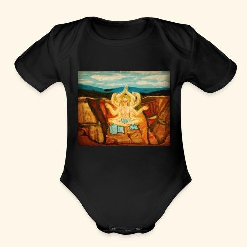 Higher Meditation - Organic Short Sleeve Baby Bodysuit