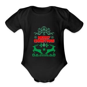 Happy Day Merry Christmas Gift - Short Sleeve Baby Bodysuit