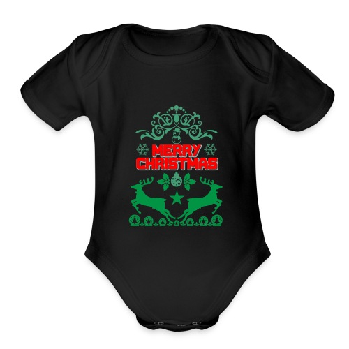 Happy Day Merry Christmas Gift - Organic Short Sleeve Baby Bodysuit