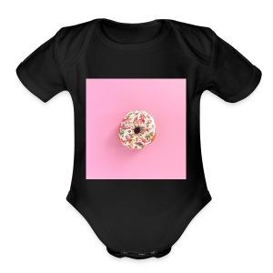 Donuts!!! - Short Sleeve Baby Bodysuit