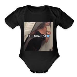 Official Offendafest Brand Trademarked Logo - Short Sleeve Baby Bodysuit