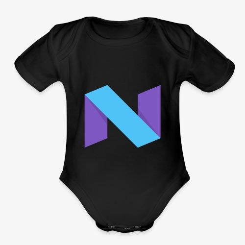 NexxusClan Classic Logo - Organic Short Sleeve Baby Bodysuit