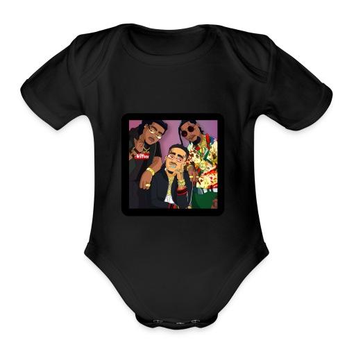 Migos Retro - Organic Short Sleeve Baby Bodysuit