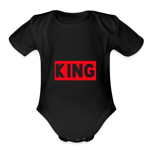 KingDefineShop - Organic Short Sleeve Baby Bodysuit