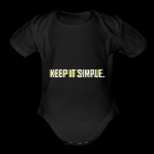 Keep It Simple - Organic Short Sleeve Baby Bodysuit