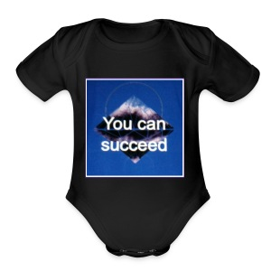 Never give up - Short Sleeve Baby Bodysuit