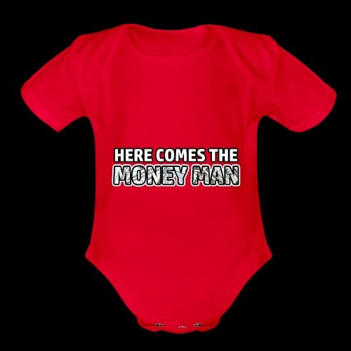 Here Comes The Money Man - Organic Short Sleeve Baby Bodysuit