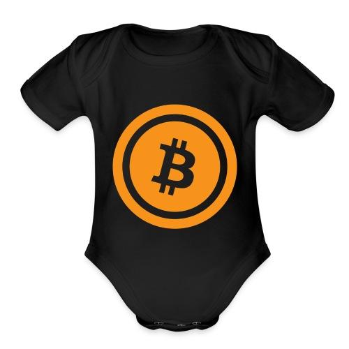 Bitcoin - Organic Short Sleeve Baby Bodysuit