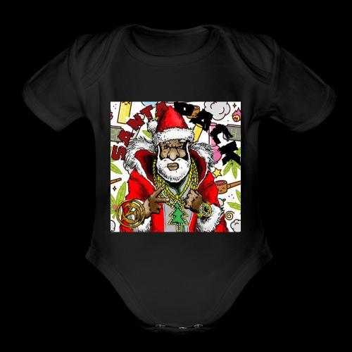 Santa Pack (Christmas Hip-Hop Gear) - Organic Short Sleeve Baby Bodysuit