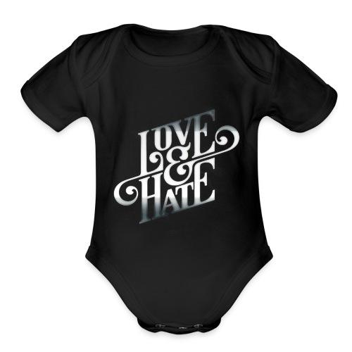 LoveHateRelationship - Organic Short Sleeve Baby Bodysuit