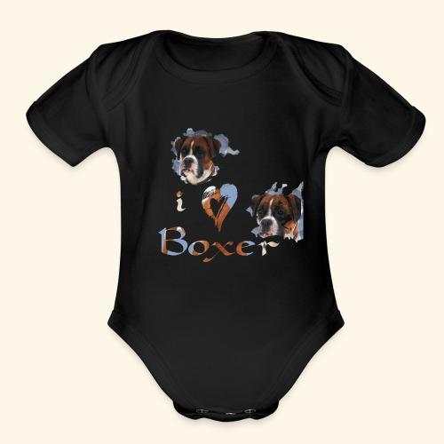 Boxer - Organic Short Sleeve Baby Bodysuit