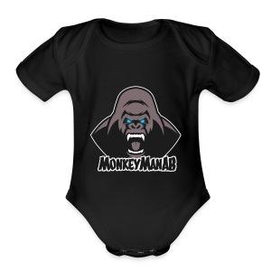 MonkeyManAB Logo - Short Sleeve Baby Bodysuit