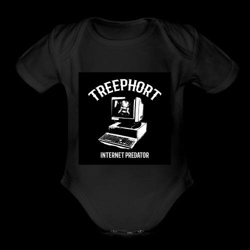 TREEPHORT: INTERNET PREDATOR MOTIF! - Organic Short Sleeve Baby Bodysuit