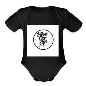 Vibes For Life Brand - Short Sleeve Baby Bodysuit