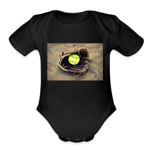 Softball hoddie - Short Sleeve Baby Bodysuit