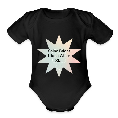Photo 1514476838633 - Organic Short Sleeve Baby Bodysuit