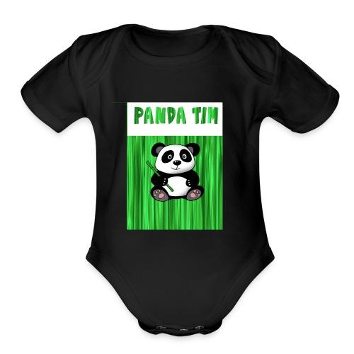 Panda Tim - Organic Short Sleeve Baby Bodysuit