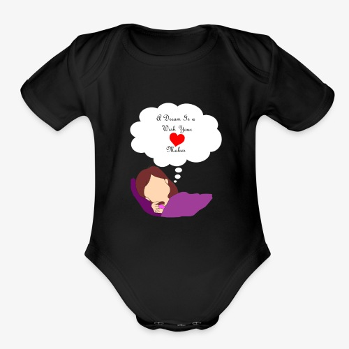 A Dream - Organic Short Sleeve Baby Bodysuit