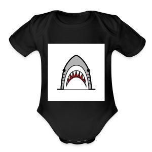 tiger shvrk - Short Sleeve Baby Bodysuit