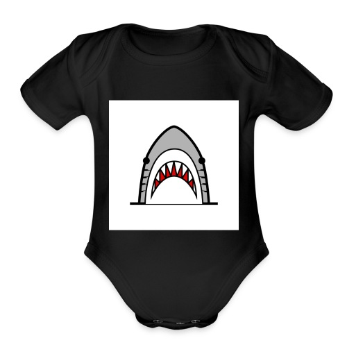 tiger shvrk - Organic Short Sleeve Baby Bodysuit