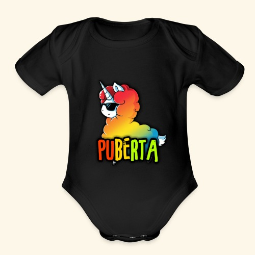 Puberta Merch - Organic Short Sleeve Baby Bodysuit