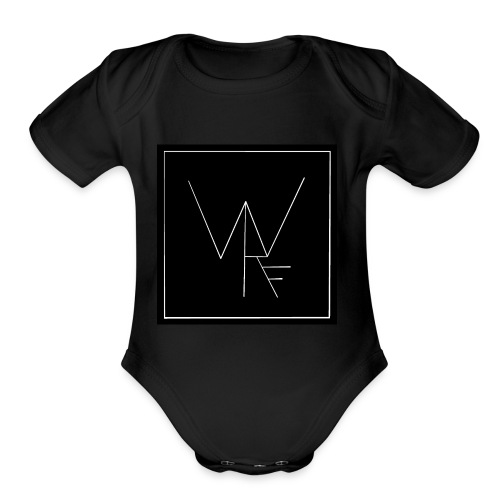 WRF Black - Organic Short Sleeve Baby Bodysuit