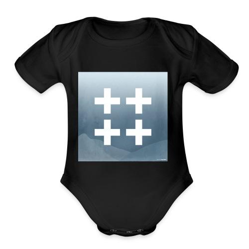 Plus plus plus plus - Organic Short Sleeve Baby Bodysuit