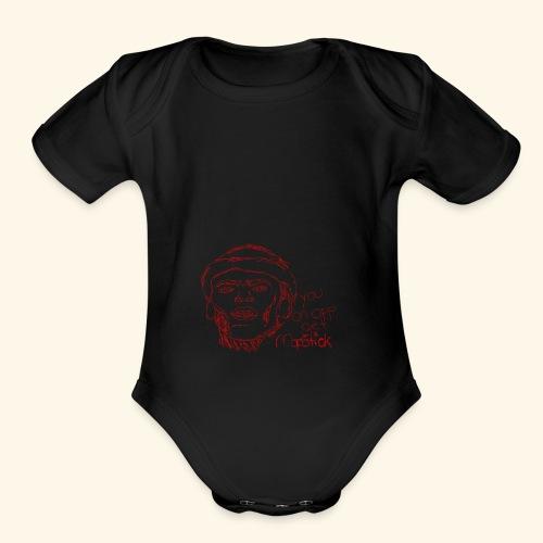 lud foe mopstick 1red - Organic Short Sleeve Baby Bodysuit