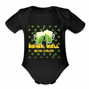 Drink well with other - Short Sleeve Baby Bodysuit