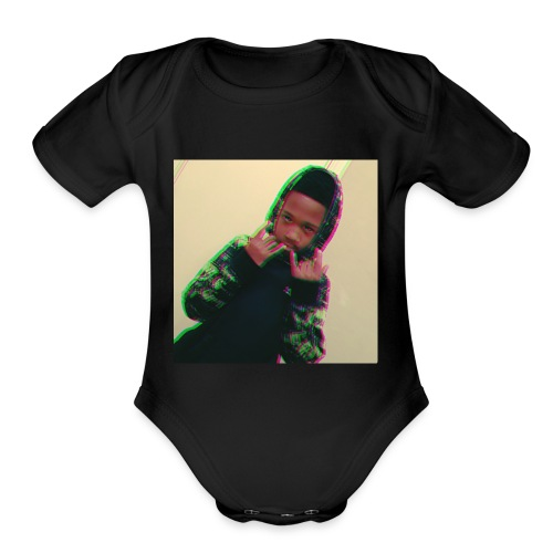 the savage king - Organic Short Sleeve Baby Bodysuit
