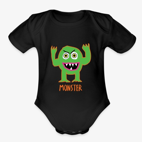 Monster - Organic Short Sleeve Baby Bodysuit