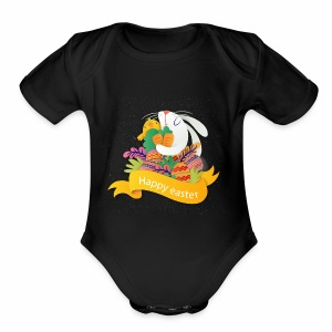 Happy Easter Day - Short Sleeve Baby Bodysuit