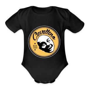 Cavallino Hair Care Logo - Short Sleeve Baby Bodysuit
