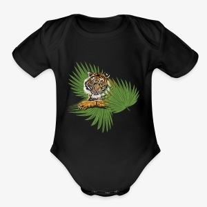Relaxed Tiger - Short Sleeve Baby Bodysuit