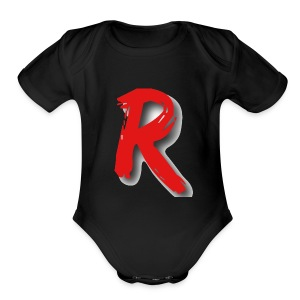 "Itz Ryan Clothing - Itz Ryan ""R"" Clothing - Short Sleeve Baby Bodysuit"