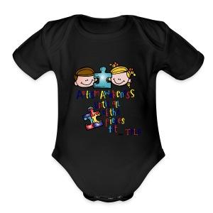 tple autism shirt - Short Sleeve Baby Bodysuit