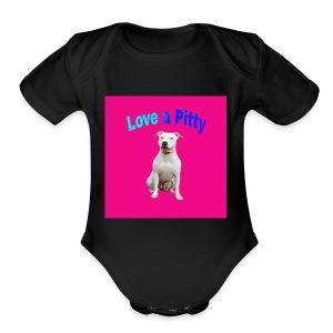 Pink Pit Bull - Short Sleeve Baby Bodysuit