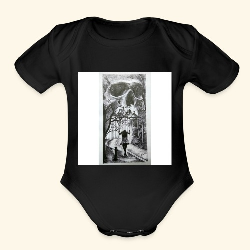 HAUNTED - Organic Short Sleeve Baby Bodysuit