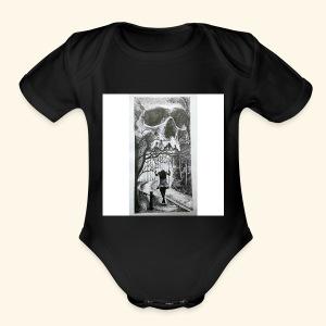 HAUNTED - Short Sleeve Baby Bodysuit