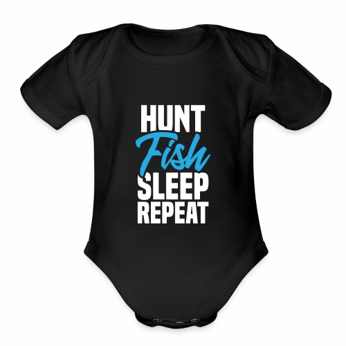 Hunt and Fish - Organic Short Sleeve Baby Bodysuit
