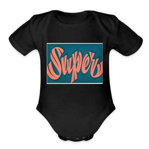 Super - Organic Short Sleeve Baby Bodysuit