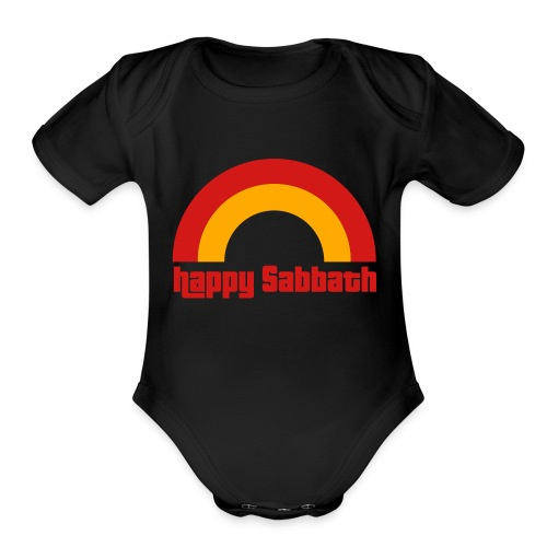 Happy Sabbath 2 Color - Organic Short Sleeve Baby Bodysuit