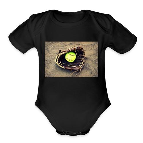 Softball hoddie - Organic Short Sleeve Baby Bodysuit