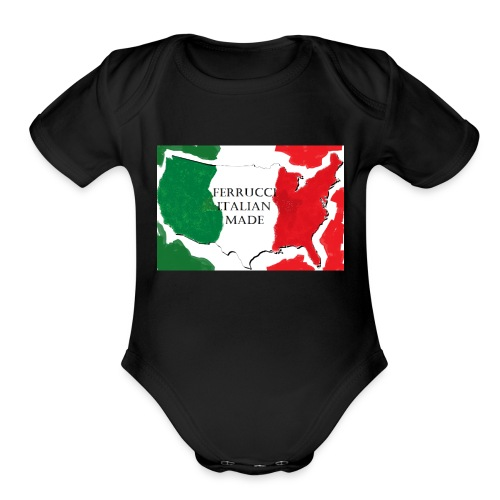 ferrucci italy - Organic Short Sleeve Baby Bodysuit
