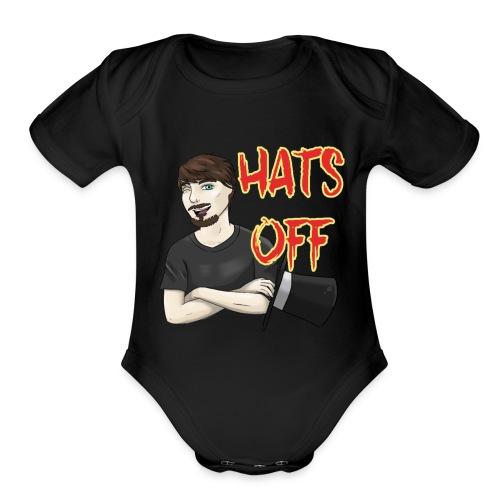 Hats Off Logo - Organic Short Sleeve Baby Bodysuit